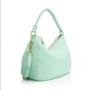 J Crew Biennial leather Mint hobo Crossbody Bag